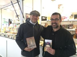 Con el escritor Agustín Lasserot